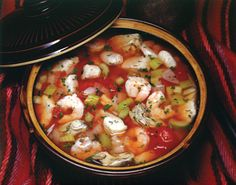 "Creole Bouillabaisse, from ""Hooked on Seafood"" cookbook."