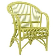 Playa Rattan Arm Chair in Lime Green