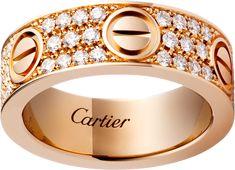 Anillo LOVE pavé: Anillo LOVE, oro rosa de 18 quilates, engastado con 66 diamantes talla brillante con un total de 0 Bagan, Décor Antique, Antique Rings, Ring Designs, Diamond Rings, Diamond Cuts, Cartier Love Ring, Ring Set, Perfect Engagement Ring