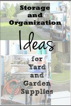 Helpful tips! Storage and organization ideas for yard and garden supplies. gardening supplies Storage and Organization Ideas for Yard & Garden Supplies Outdoor Projects, Diy Projects, Furniture Projects, Shed Organization, Stone Landscaping, Declutter Your Life, Garden Tool Storage, Gardening Supplies, Gardening Blogs
