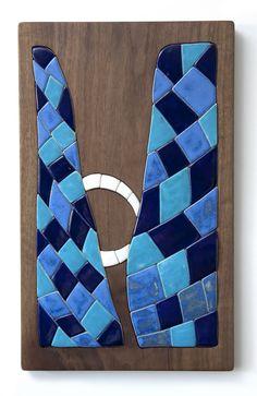 Crossing  the Sea. Christian art, ceramic mosaic