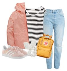 """""""Marla Catherine Inspired"""" by emcguckin on Polyvore featuring H&M, adidas, adidas Originals, Fjällräven, Boohoo, yellow and Pink"""