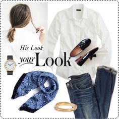 His Look Your Look by bluehydrangea on Polyvore featuring J.Crew, Madewell, The Horse and Mulberry