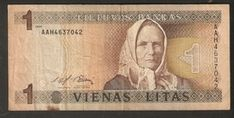 T. Lithuania Banknote 1 Vienas Litas 1994 AAH4637042 | For sale on Delcampe
