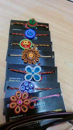 Paper quilled rakhi