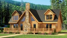 My Favorite one. Grand Lake - Log Home Plan | Southland Log Homes