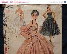 SALE FF UNCUT 1950s Halter Evening Dress  Simplicity by kinseysue, $60.00
