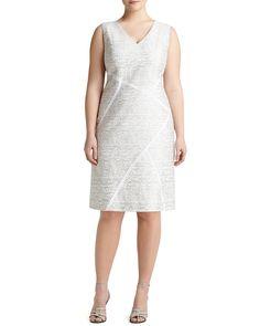 Kiersten Sleeveless Sakura Jacquard Dress, Women's