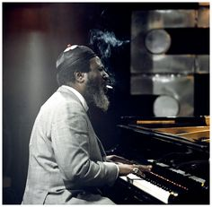 Jazz pianist Thelonious Monk performs, smoking a cigarette while playing the piano, on the Jazz Scene TV show filmed at Ronnie Scott's Club on April 1970 in London. Jazz Artists, Jazz Musicians, Music Artists, Music Is Life, My Music, Music Stuff, Music Pics, Music Images, Reggae Music