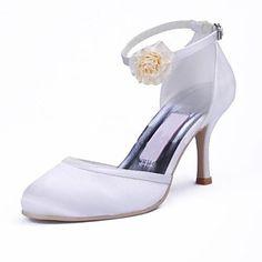 Stiletto mariage talon bout pointu de femmes satin pompe des chaussures (plus de couleurs) - EUR € 41.24