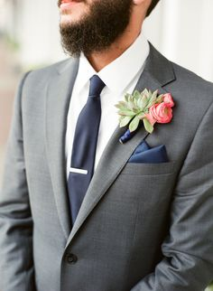 Bethesda Wedding | Photography by The Happy Bloom Fine Art Photography | Fuji 400 | Groom Love | Dapper Groom | Southern Groom | www.thehappybloom.com | Southern Weddings | Winter Wedding | Styled by Ivory & Beau | Succulent Boutonniere