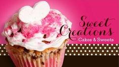 Pink Heart Sweet Creations Cakes and Sweets Bakery Business Cards http://www.zazzle.com/bakery_cakes_sweets_creations-240563256289329518?rf=238835258815790439&tc=ZBCPin