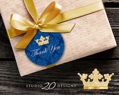 Instant Download Royal Blue Prince Thank You by Studio20Designs