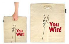 Creative Canvas Shopping Bag