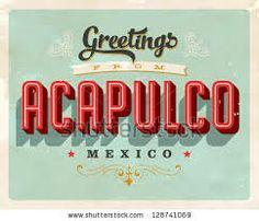 50S TYPOGRAPHY ACAPULCO - CARTELES