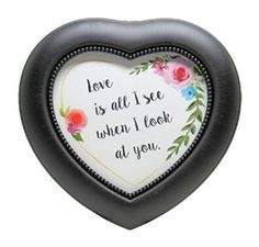 Carson Home Accents Heart Shaped Music Gift Box, Love is all I see When I look at you