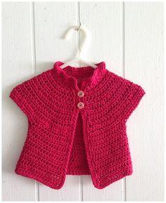 Crochet Azalea Baby Cardigan Free Pattern - Crochet Kid's Sweater Coat Free Patterns