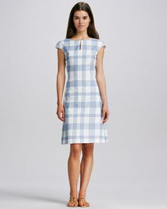Kenny Printed Cotton Dress by Tory Burch at Neiman Marcus.