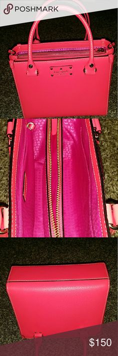 Kate spade purse Hot pink with shoulder strap option (dust bag not included) kate spade Bags Satchels
