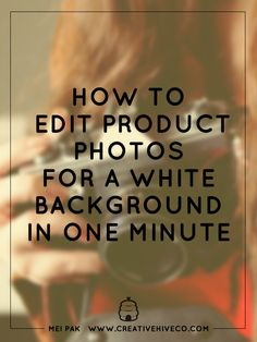 After taking photos of your product, you'll need to edit your photos. Here's how to edit product photos for a white background in ONE minute.
