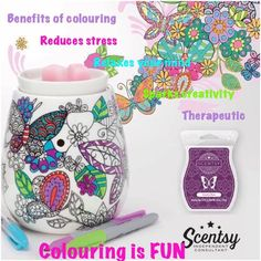 39,00 colour in your own warmer excellant Xmas present idea just buy sharpies to colour in 🎄🎁 www.sarah-heritage80.scentsy.co.uk