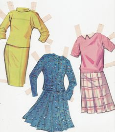 Patty and Cathy dresses Whitman 1965