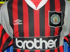 4.5/5 Manchester City adults XL 1994 away football shirt jersey trikot soccer