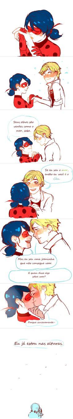 Miraculous Ladybug Adrien e Ladybug <3
