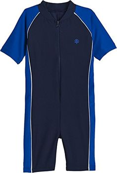 7d6ba83e69 Coolibar UPF 50 Toddler Boys NeckToKnee Surf Suit Sun Protective 3T Blue  Wave * You can