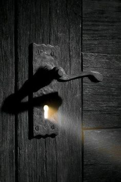 Narrative Spark: A hint of promise. What is beyond the door that brings hope to your character? (Original photo from Distant Passion  - http://distantpassion.tumblr.com/post/51228633047/ill-find-the-light)