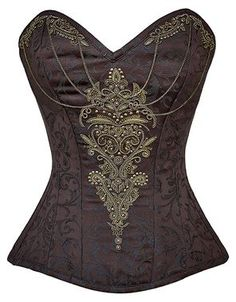 So excited to get this from The Violet Vixen. Gilded Chalices Steampunk Corset #thevioletvixen