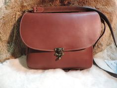 Large Classic Leather Bag by RoundOakLeather on Etsy