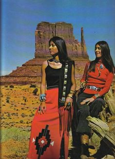 Native American fashions from Arizona Highways magazine, 1970s.