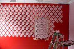 Wall stencil tutorial.