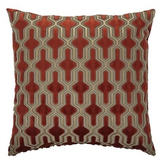 "Z Gallerie - Delancy Pillow 24"" - Flame"