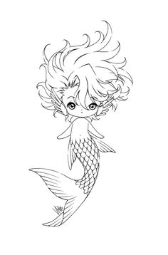 Mermaid Coloring Page 10   COLORING   Pinterest   Mermaid coloring ...