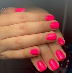 The advantage of the gel is that it allows you to enjoy your French manicure for a long time. There are four different ways to make a French manicure on gel nails. The choice depends on the experience of the nail stylist… Continue Reading → Short Nail Designs, Colorful Nail Designs, Colourful Nails, Bright Pink Nails, Cute Spring Nails, Summer Nails, Spring Nail Colors, Pink Summer, Summer Colors