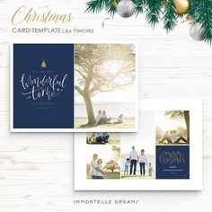 Holiday Christmas Card Photoshop Templates For Photographers