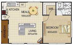 Image result for planos apartamento de 30 metros cuadrados