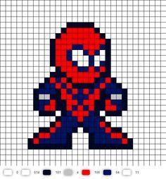 Spider-Girl Perler Bead Pattern