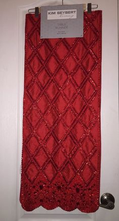 Nwt kim seybert neiman marcus red #valentines diamond jewel beaded #table #runner,  View more on the LINK: http://www.zeppy.io/product/gb/2/292023133860/
