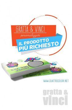 Stampa Gratta e Vinci Personalizzati per Aziende! Prezzo speciale per 1000 pz. GUARDA ORA #quattrocolori #pubblicità #branding #marketing #business #b2b #advertising
