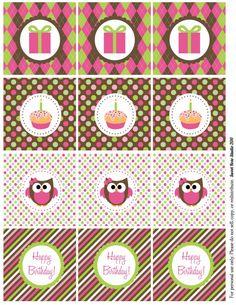 Owl Birthday Freebie!