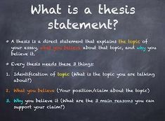 This powerpoint presentation explains what a thesis is and includes step-by-step directions for writing one yourself. Essay Writing Skills, Research Writing, Thesis Writing, Academic Writing, English Writing, Teaching Writing, Ielts Writing, Argumentative Essay, English Class