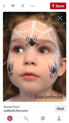 Spiders face paint idea