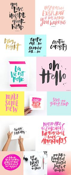 Inspiration: I should have another go at hand lettering! Handlettering Abc, Calligraphy Quotes, Calligraphy Letters, Typography Letters, Modern Calligraphy, Schrift Design, Lettering Tutorial, Typography Inspiration, Brush Lettering
