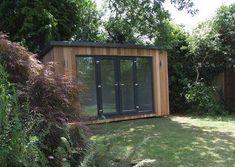 Contemporary gallery on Sanctum Garden Studios Modern Patio Doors, Garden Studio, French Doors, Outdoor Structures, Contemporary, Sheds, Gallery, Outdoor Decor, Studios