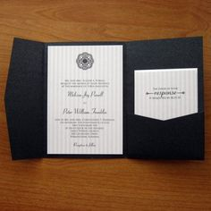 Black and White Wedding Invitations. Needs a little something more but like the concept