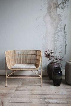 Cuun Armchair - / Rattan Armchair / Natural by House Doctor Furniture, Interior, Living Room Chairs, Hotel Furniture, House Doctor, Tan Furniture, Scandinavian Chairs, Armchair, Pool Patio Furniture