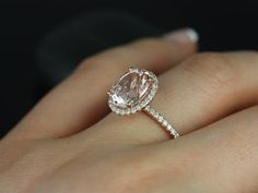 Jessica Original Size 14kt Rose Gold Oval Morganite by RosadosBox